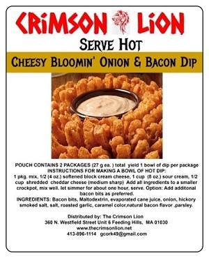 Bloomin Onion and Bacon Dip