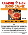 Blood Orange:  This cocktail offers  a delicious orange flavor. It will refresh you on that warm summer day