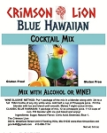 Blue Hawaiian Cocktail: This is a smooth tropical drink made with Rum or Vodka, if desired. Options: Add pineapple juice or substitute  Coconut Rum. Buy quantity of  1-4 for a 10% discount off the regular price.