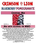 Blue Pomegrante: This eye pleasing fruity cocktail combines Blueberry and Pomegranate for to please your palate