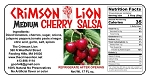 Cherry Salsa-17 oz.: Makes for a sweet and spicy condiment for salmon, chicken, or pork. Of course dipping with tortilla chips is a favorite appetizer.