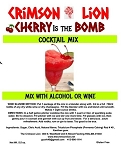 Cherry Bomb Cocktail:  This is an easy fruity and bubbly or frozen cocktail  that will blow you away. Mix with Vodka, Rum, or a white Wine