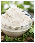 Heavenly Horseradish Dip:  Tastes great as a dip as well as spread on  Kielbasa with just the right amount of spice.