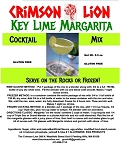 Keylime Margarita Wine Slush/Cocktail Mix:  A drink  for all occasions with or without a salt rim. This drink will help make your party a huge success. Buy quantity 1-4 for a 10% discount off the regular price