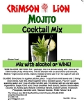 Mojito Wine Slush / Cocktail Mix:  If you like a refreshing cool drink you will love this delicious and popular summer drink. Add mint if desired.