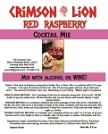 Raspberry Wine  Cocktail: Raspberry is a perfect fruit for this delicious cocktail made with Vodka or Gin, add a lime. Buy quantity of 1-4 for a 10% discount off the regular price
