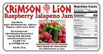 Raspberry Jalapeno Jam-19 oz.  Great on a bagel over cream cheese or baked brie. Top selling Jam ! Buy quantity of 1-4 for a 10% discount off the regular price.