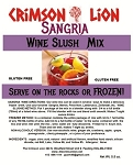 Sangria  Wine Slush : Get your Sangria Wine ready and make a refreshing frozen wine slush for you and friends.The wine slush flavor is magnificent. Buy a quantity of 1-4 for a 10% discount off the regular price