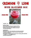 Skinny Lion Sugar free Wine Blizzard Slush Mix- SUGAR FREE MIX for those that like a tasty wine slush with low sugar wines.