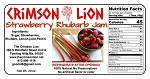 Strawberry-Rhubarb Jam-20 oz. Fruity concoction is scrumptious spread on sandwiches, toast , English muffin, bagel,with cream cheese and more.