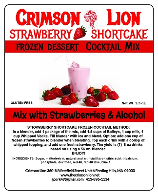 Strawberry Shortcake Dessert Cocktail Mix NEW- Are you ready for a delicious after dinner dessert cocktail. Your palate is waiting.