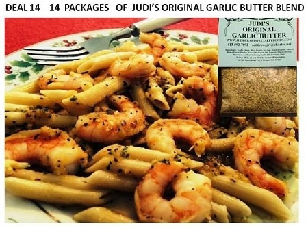 Deal No. 14-(14) Judi's Original Garlic Butter Blend