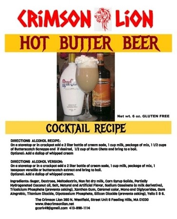"Hot Butter Beer:  The best Hot Butter Beer recipe around in a package mix to make the famous ""Harry Potter"" drink"