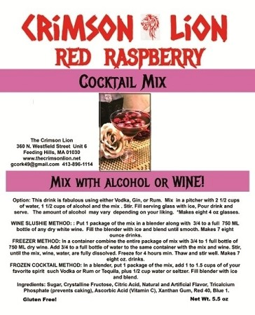 Raspberry Cocktail: Raspberry is a perfect fruit for this delicious cocktail made with Vodka or Gin, add a lime.