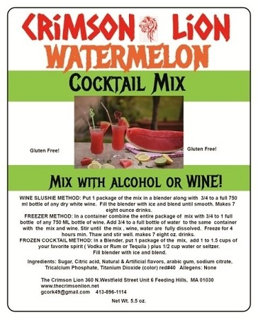 Watermelon Wine Slush Cocktail Mix:  Make with Vodka or White  Wine and enjoy this refreshing top selling flavor.